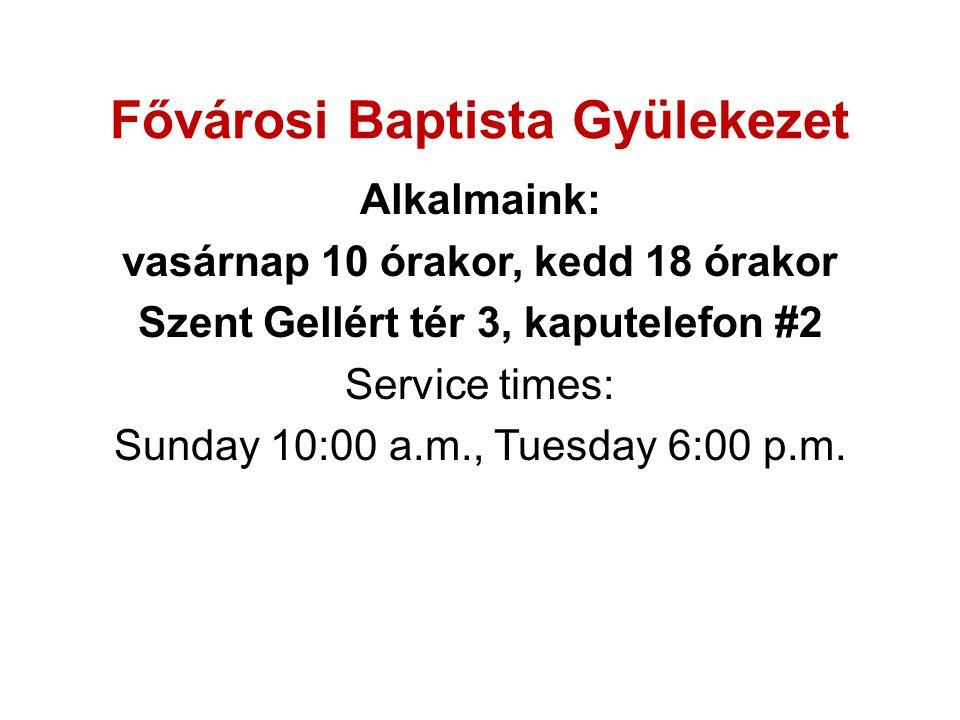 Fővárosi Baptista Gyülekezet