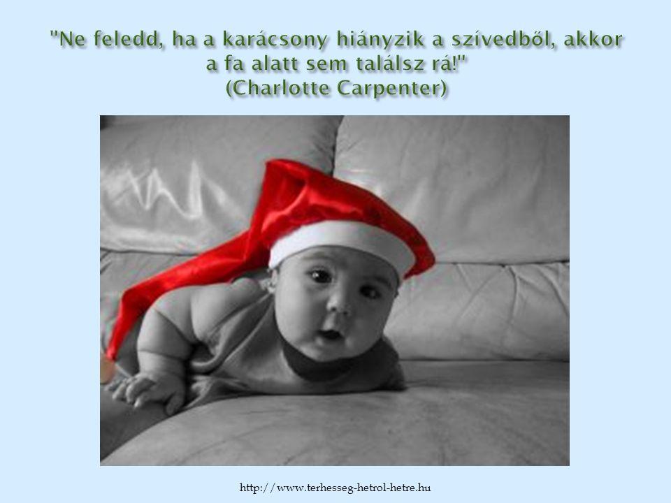 Ne feledd, ha a karácsony hiányzik a szívedből, akkor a fa alatt sem találsz rá! (Charlotte Carpenter)