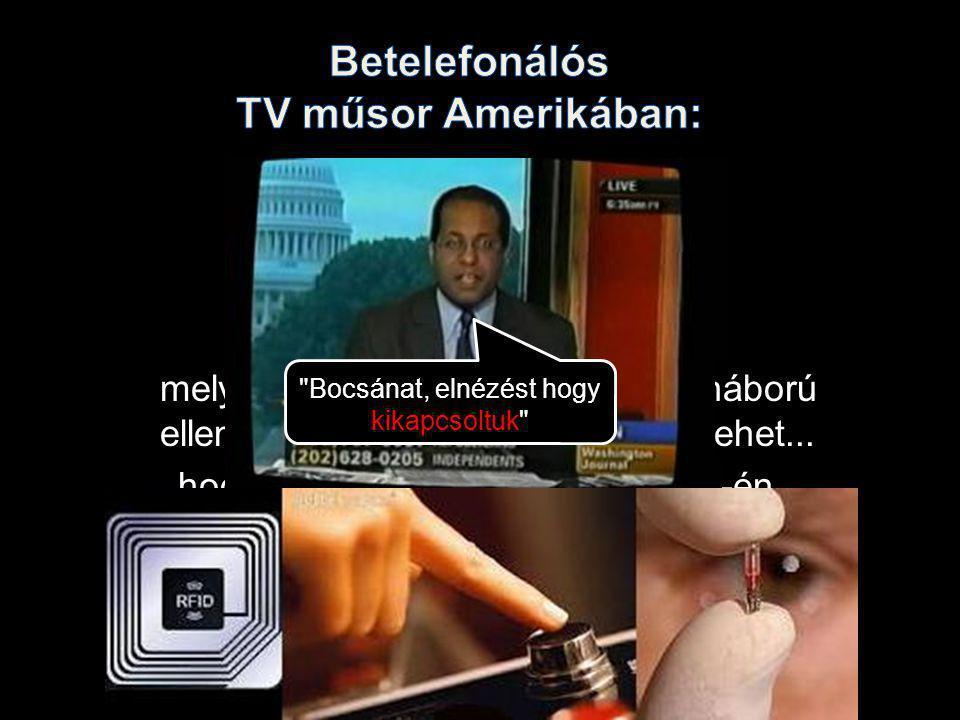 VONALSZAKADÁS! Betelefonálós TV műsor Amerikában: