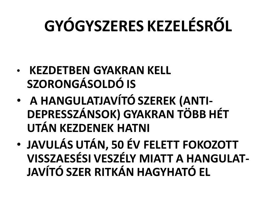 GYÓGYSZERES KEZELÉSRŐL