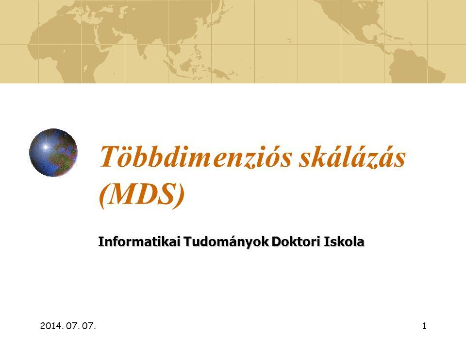 Többdimenziós skálázás (MDS)