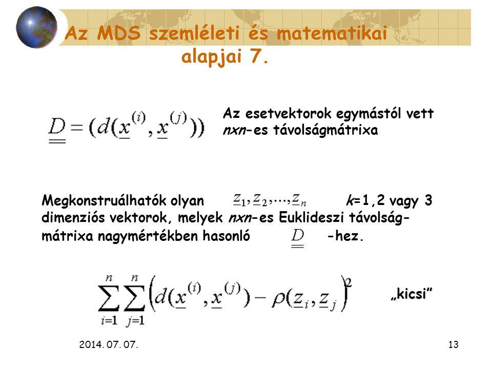 Az MDS szemléleti és matematikai alapjai 7.