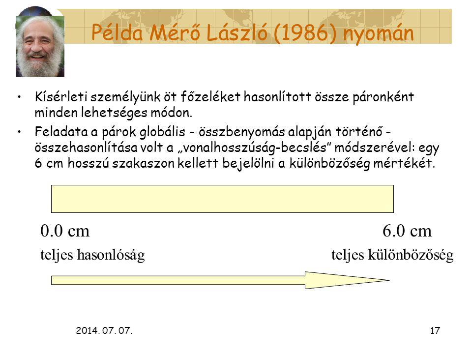 Példa Mérő László (1986) nyomán