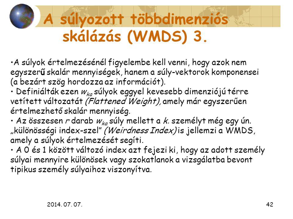 A súlyozott többdimenziós skálázás (WMDS) 3.