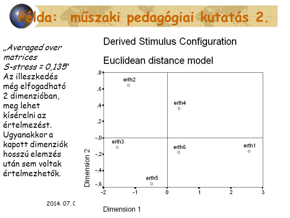 Példa: műszaki pedagógiai kutatás 2.