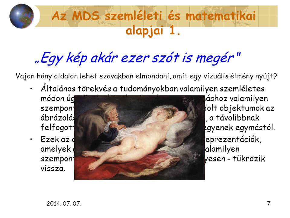 Az MDS szemléleti és matematikai alapjai 1.