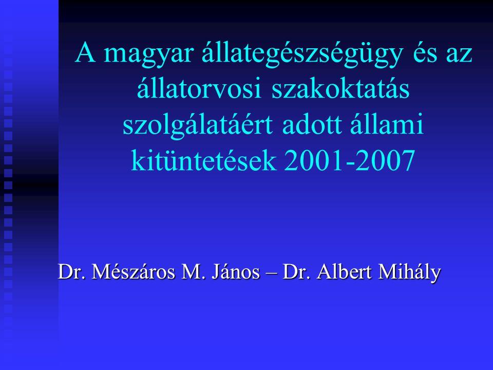 Dr. Mészáros M. János – Dr. Albert Mihály