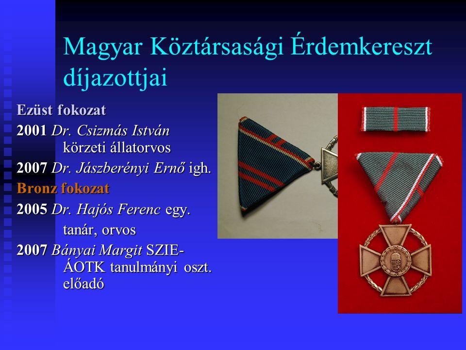 Magyar Köztársasági Érdemkereszt díjazottjai