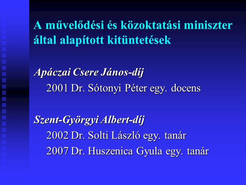 A művelődési és közoktatási miniszter által alapított kitüntetések