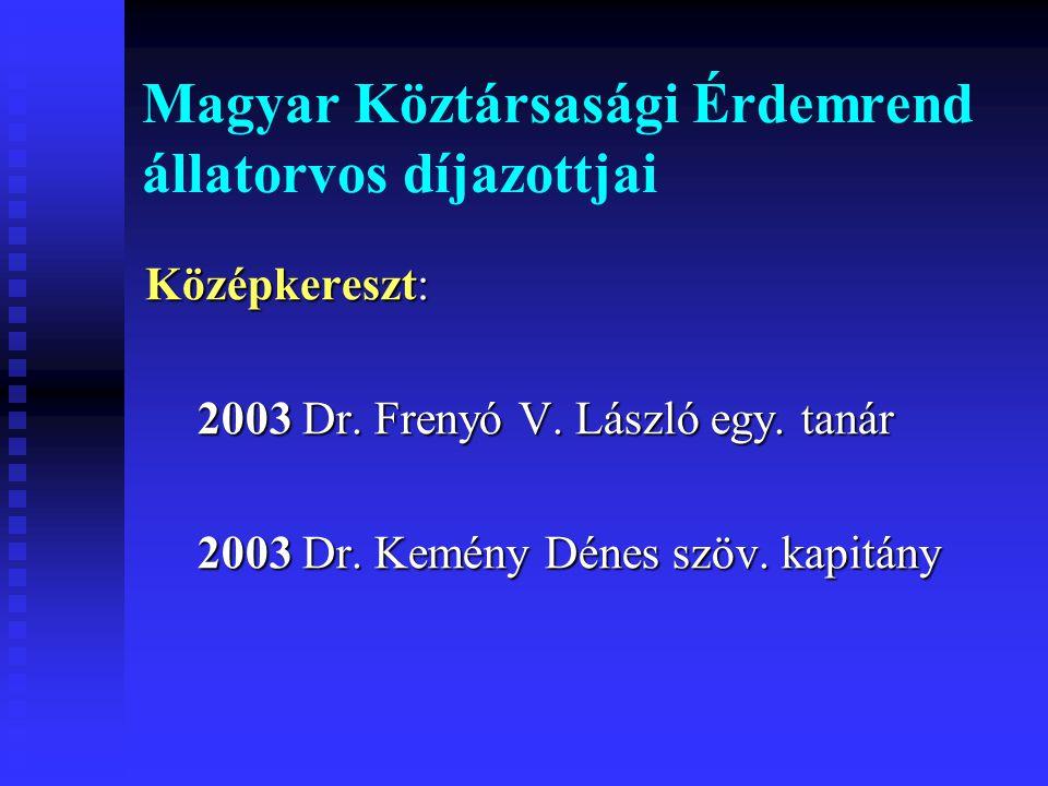 Magyar Köztársasági Érdemrend állatorvos díjazottjai