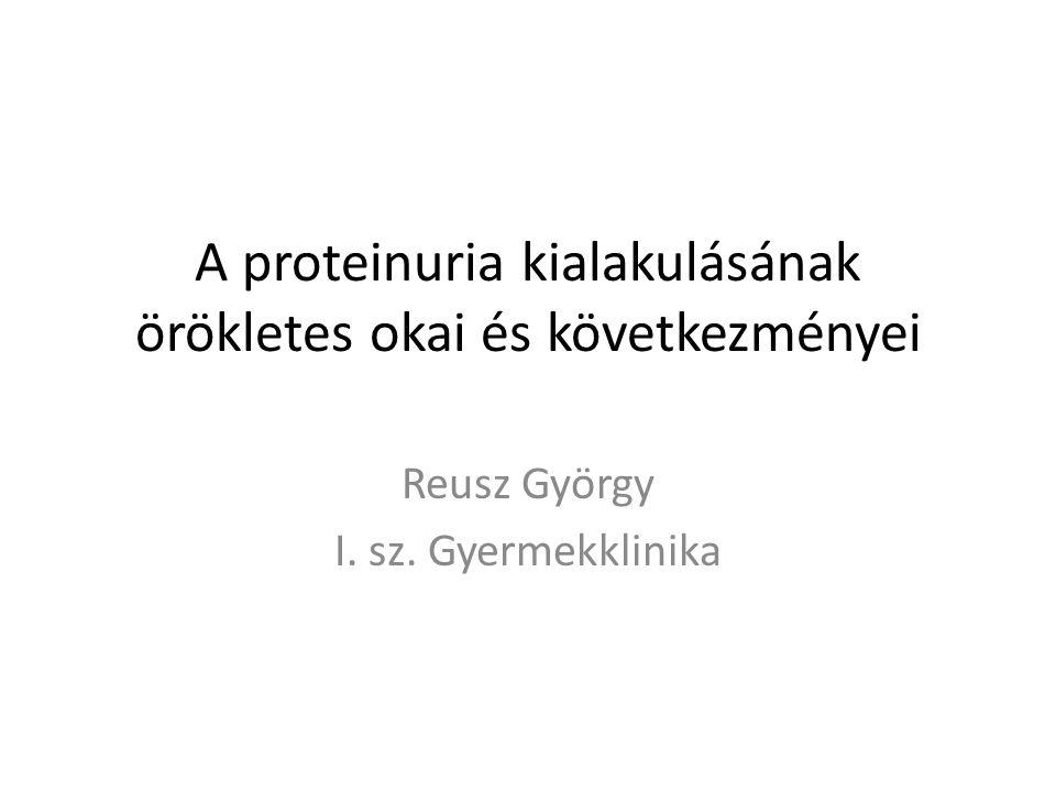 A proteinuria kialakulásának örökletes okai és következményei