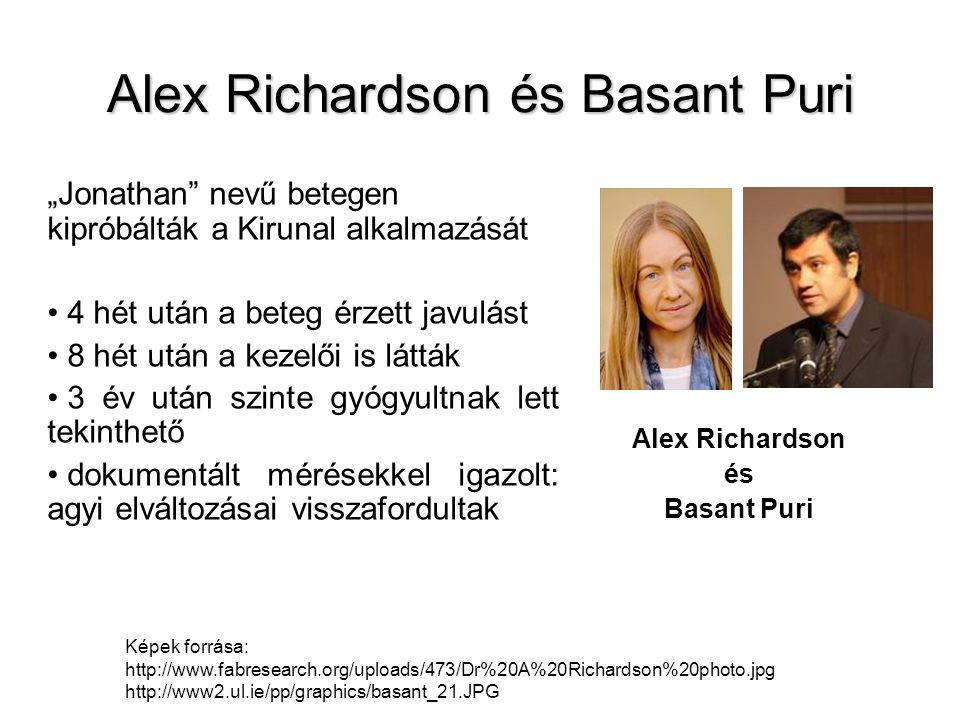 Alex Richardson és Basant Puri