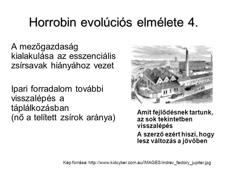 Horrobin evolúciós elmélete 4.