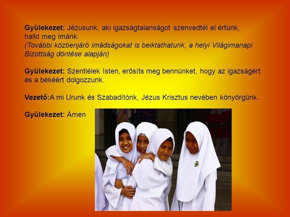 Gyülekezet: Jézusunk, aki igazságtalanságot szenvedtél el értünk,