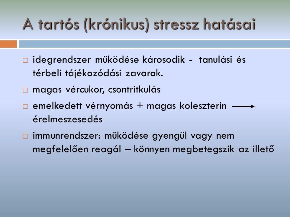 A tartós (krónikus) stressz hatásai