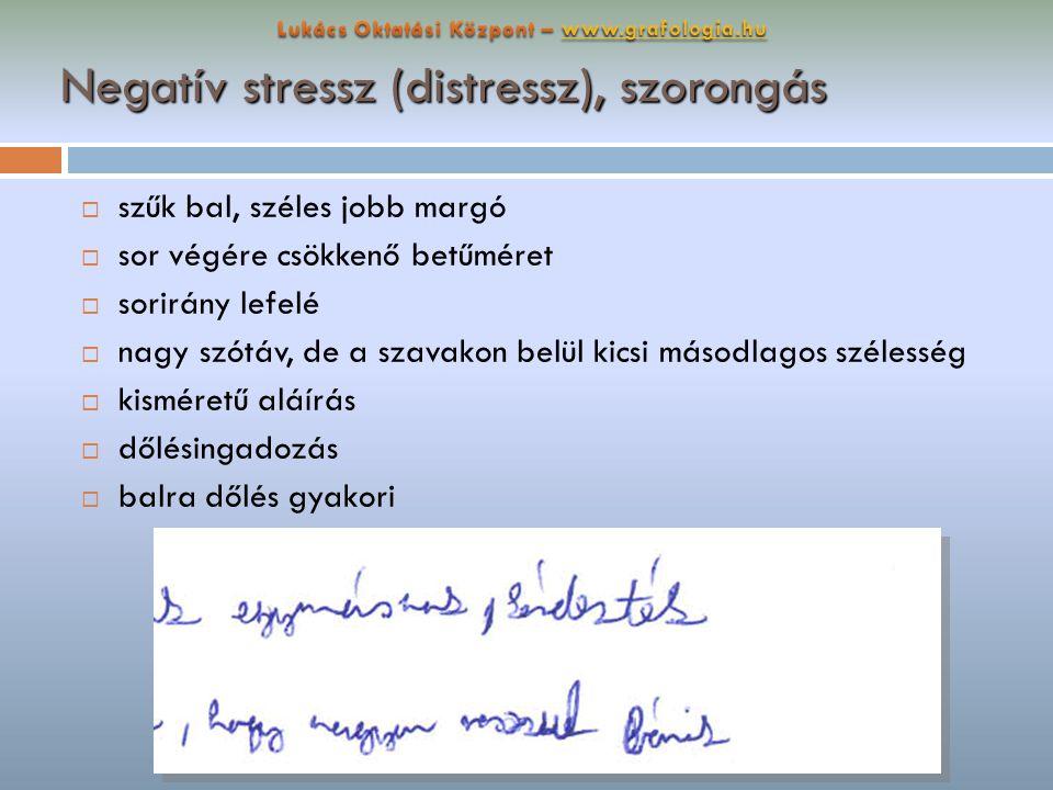 Negatív stressz (distressz), szorongás