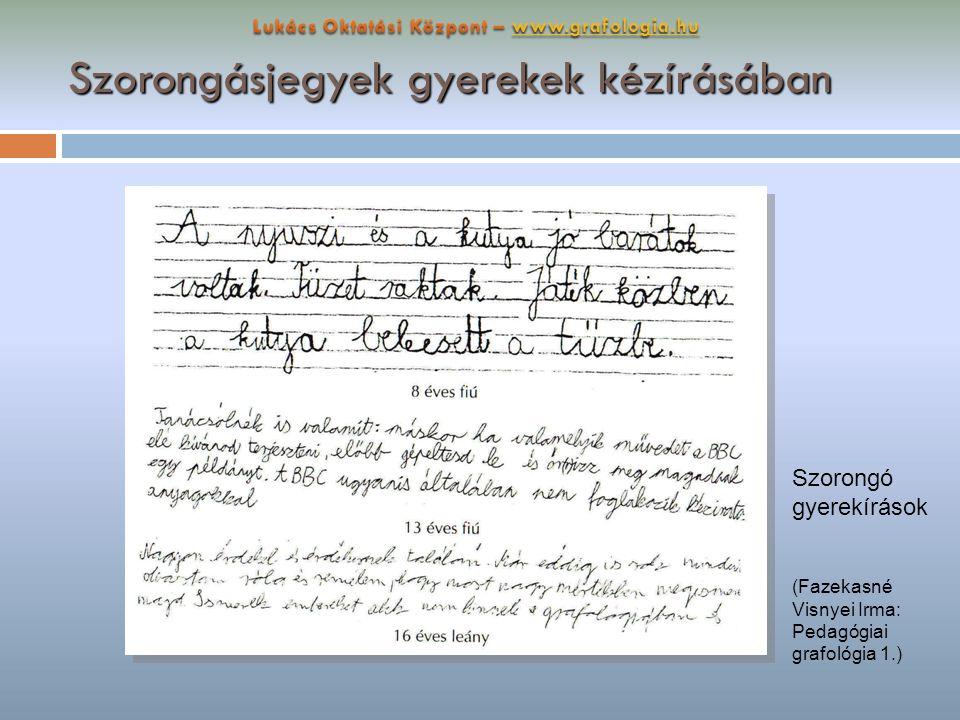 Szorongásjegyek gyerekek kézírásában