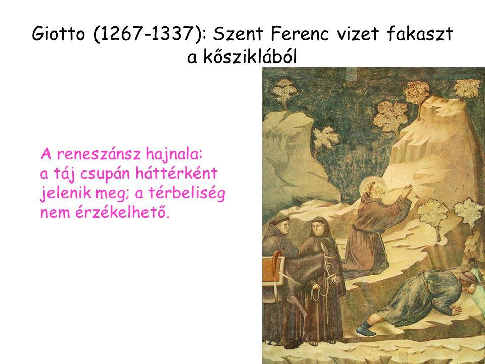 Giotto (1267-1337): Szent Ferenc vizet fakaszt a kősziklából