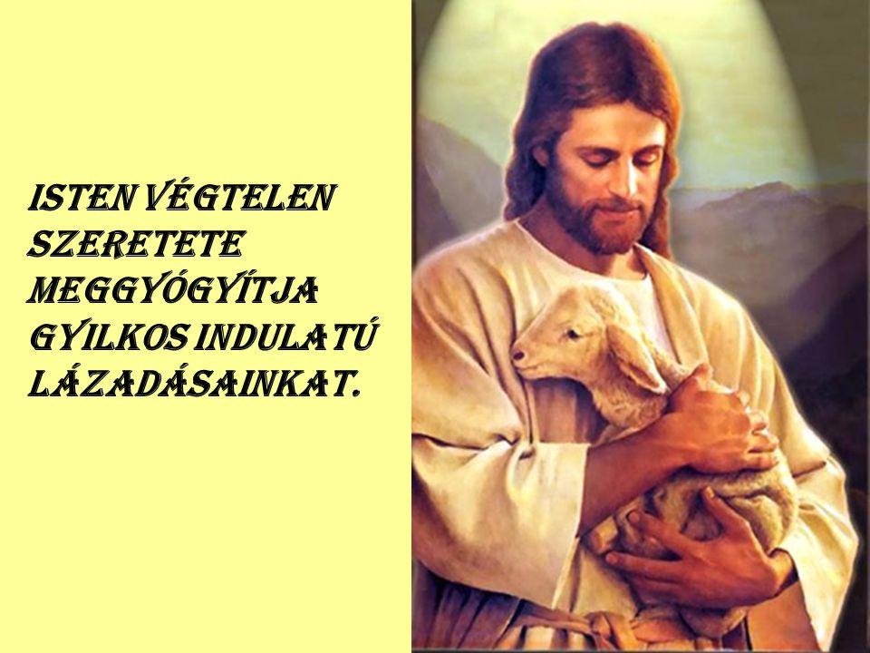 Isten végtelen szeretete meggyógyítja gyilkos indulatú lázadásainkat.