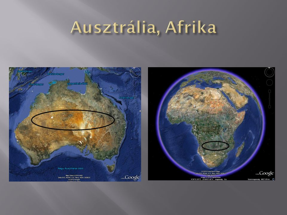 Ausztrália, Afrika