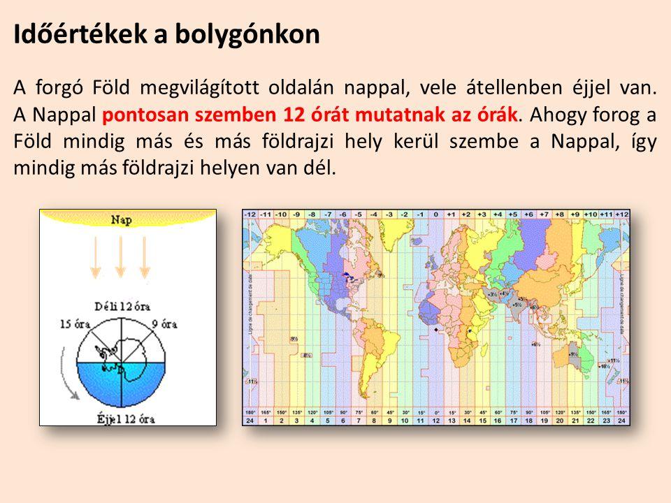 Időértékek a bolygónkon