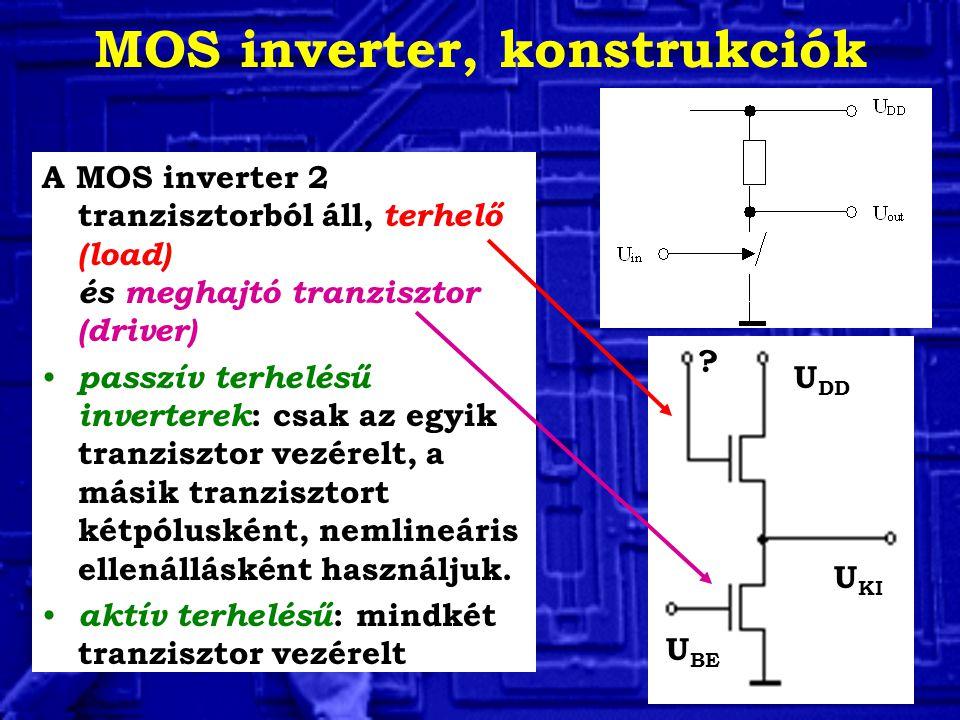 MOS inverter, konstrukciók