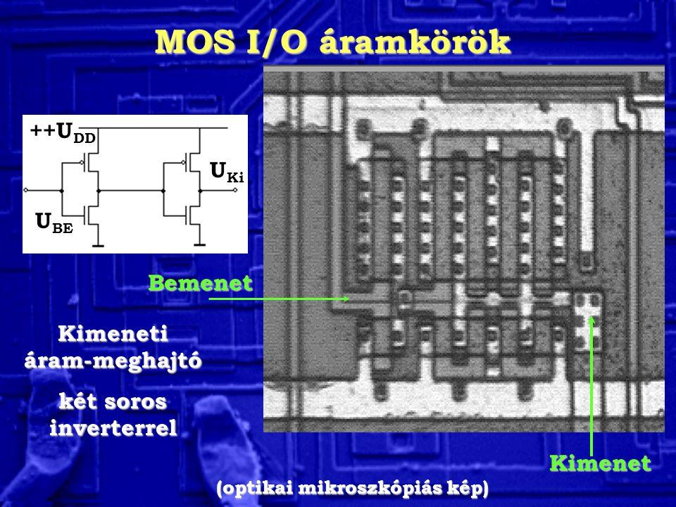 Kimeneti áram-meghajtó (optikai mikroszkópiás kép)