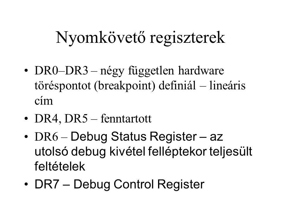 Nyomkövető regiszterek