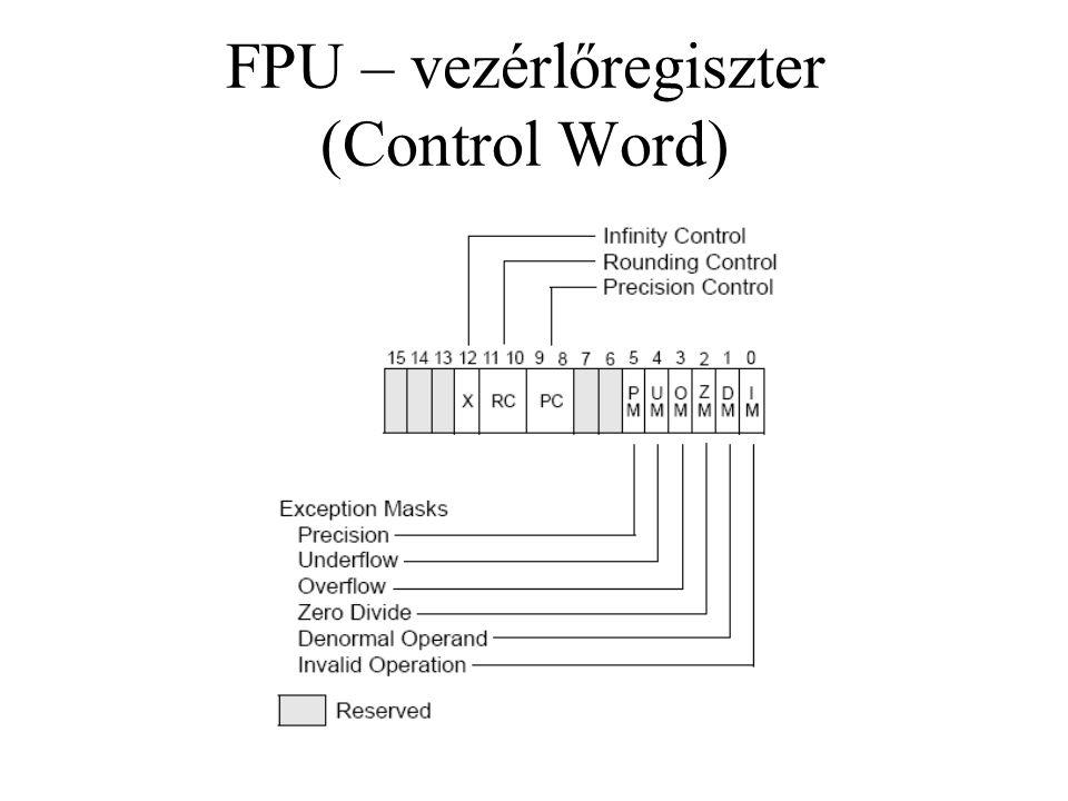 FPU – vezérlőregiszter (Control Word)