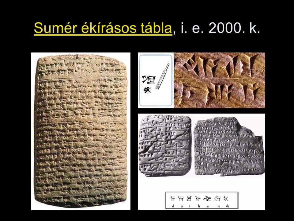 Sumér ékírásos tábla, i. e. 2000. k.