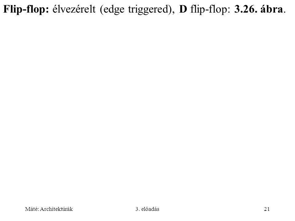 Flip-flop: élvezérelt (edge triggered), D flip-flop: 3.26. ábra.