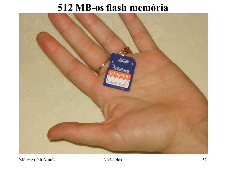 512 MB-os flash memória 190-191 Máté: Architektúrák 3. előadás