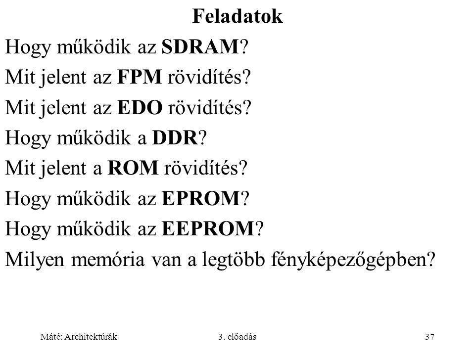 Mit jelent az FPM rövidítés Mit jelent az EDO rövidítés