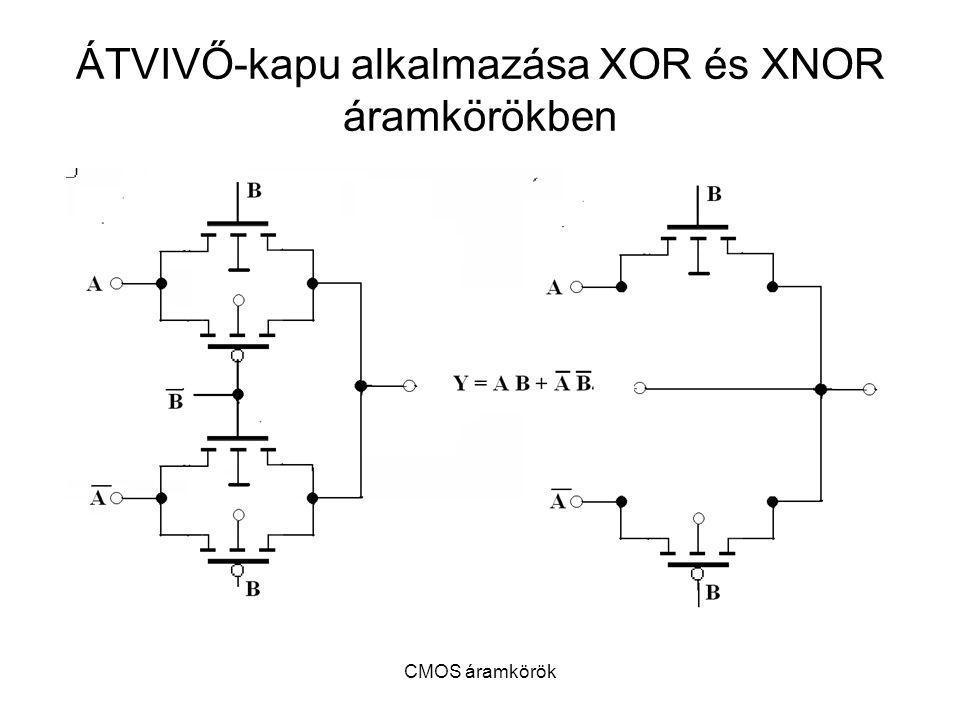 ÁTVIVŐ-kapu alkalmazása XOR és XNOR áramkörökben