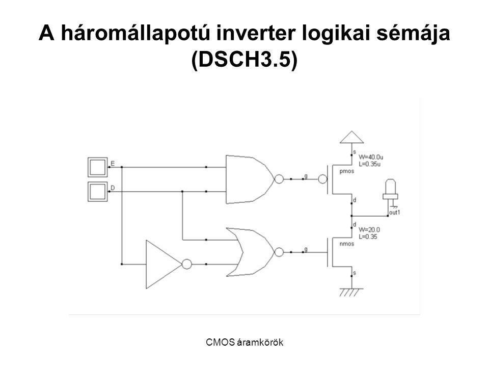 A háromállapotú inverter logikai sémája (DSCH3.5)