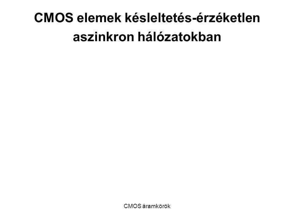 CMOS elemek késleltetés-érzéketlen aszinkron hálózatokban