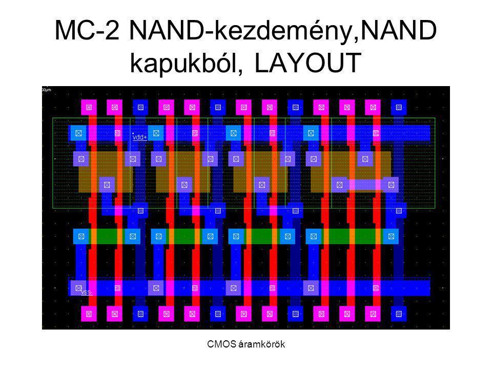 MC-2 NAND-kezdemény,NAND kapukból, LAYOUT