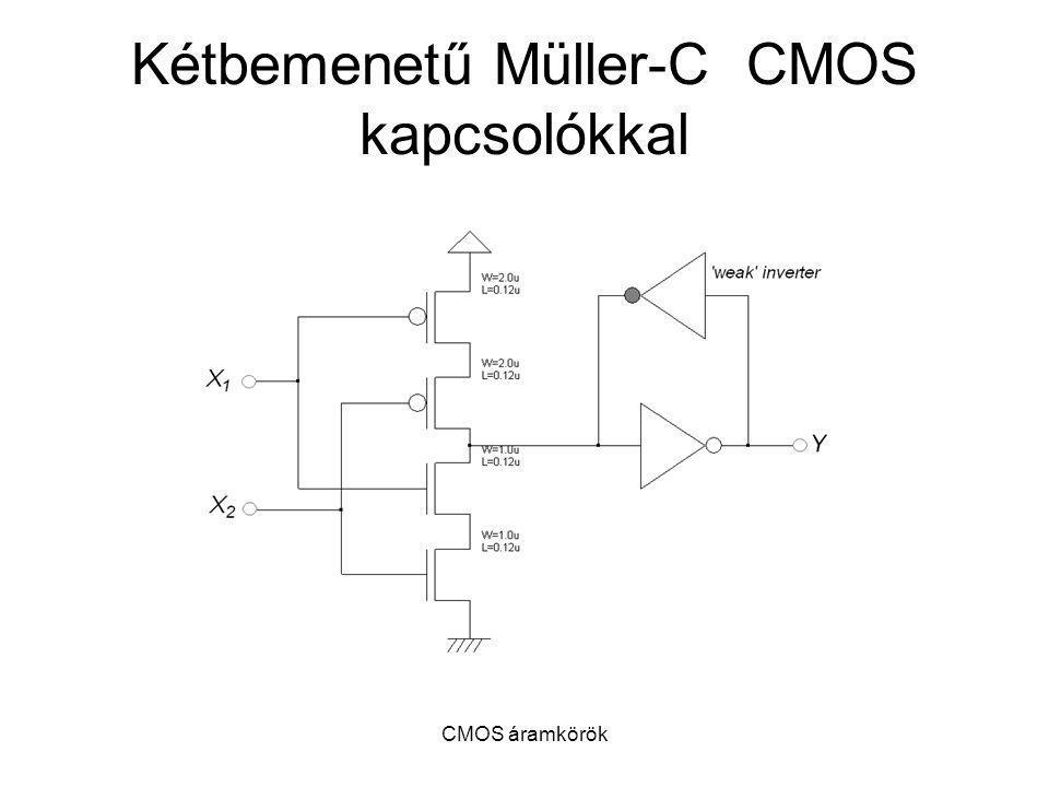 Kétbemenetű Müller-C CMOS kapcsolókkal