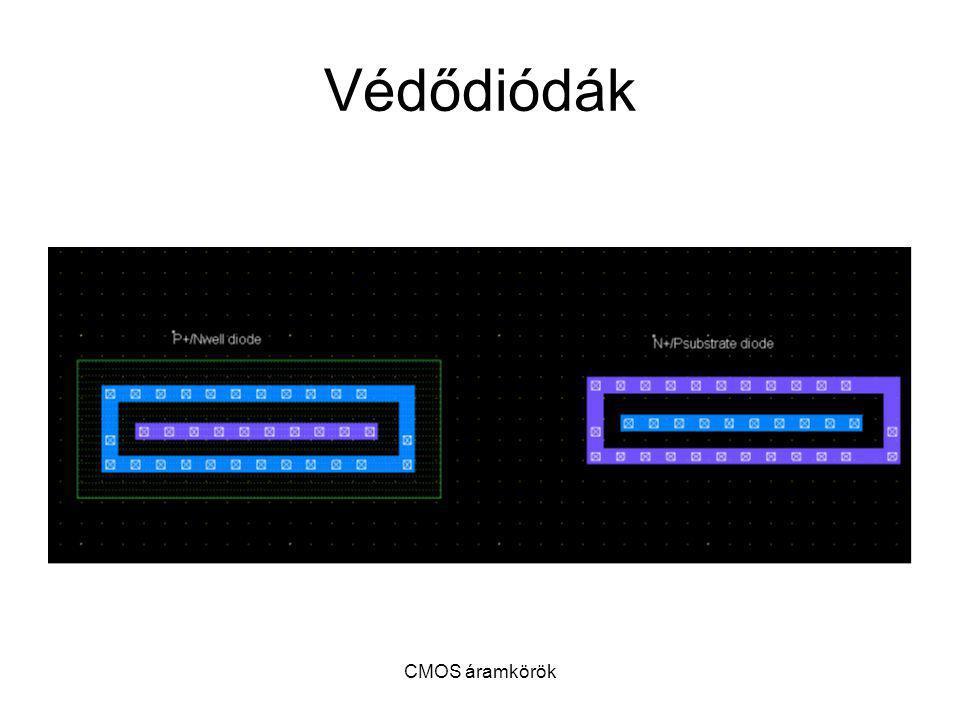 Védődiódák CMOS áramkörök