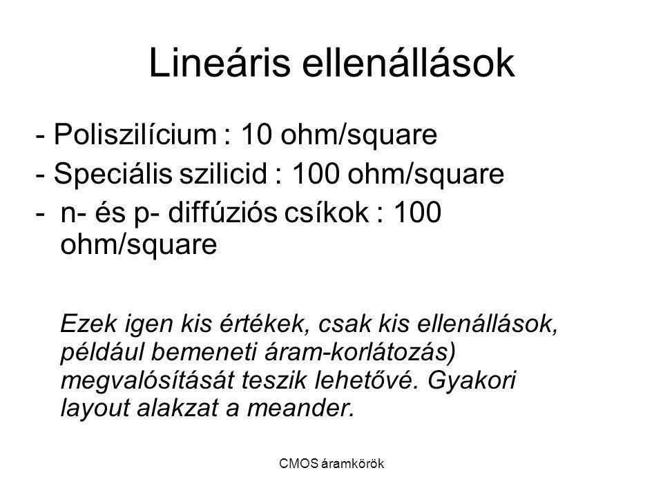Lineáris ellenállások