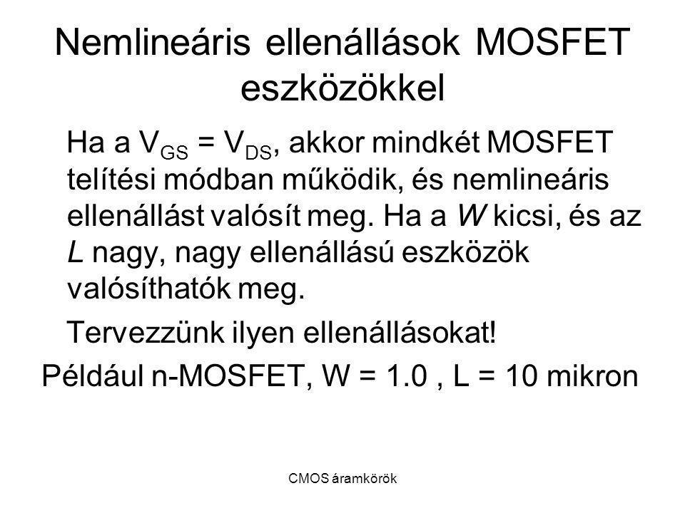 Nemlineáris ellenállások MOSFET eszközökkel