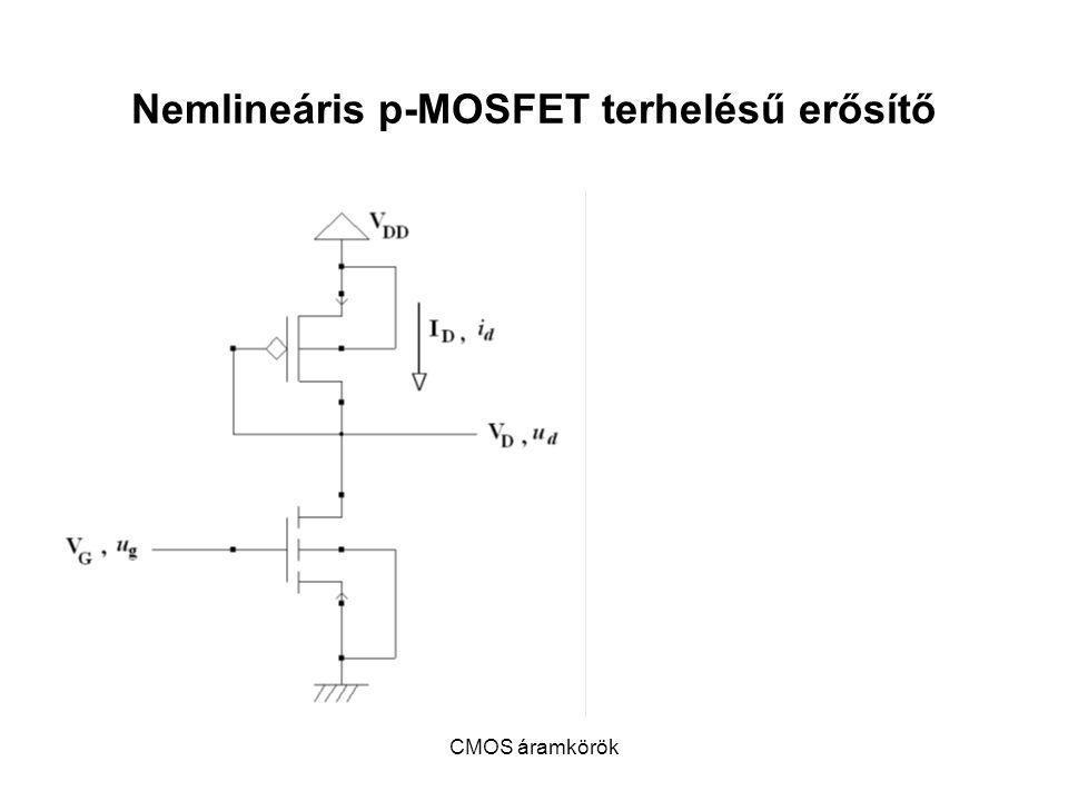 Nemlineáris p-MOSFET terhelésű erősítő