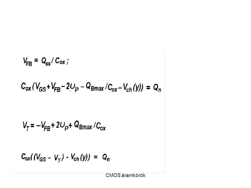 FLAT-BAND feszültség CMOS áramkörök
