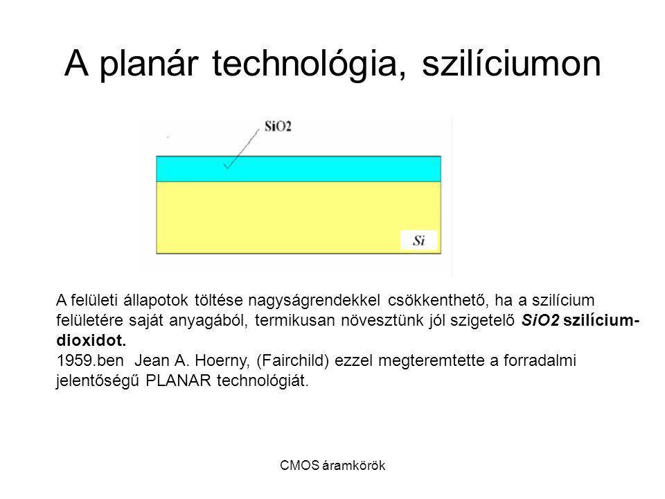 A planár technológia, szilíciumon