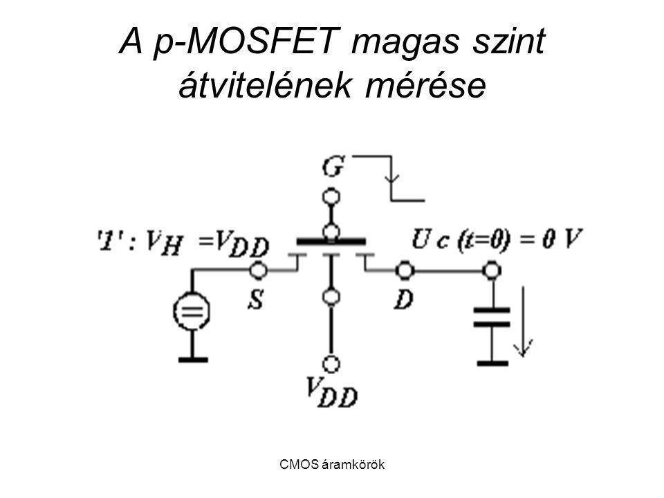 A p-MOSFET magas szint átvitelének mérése