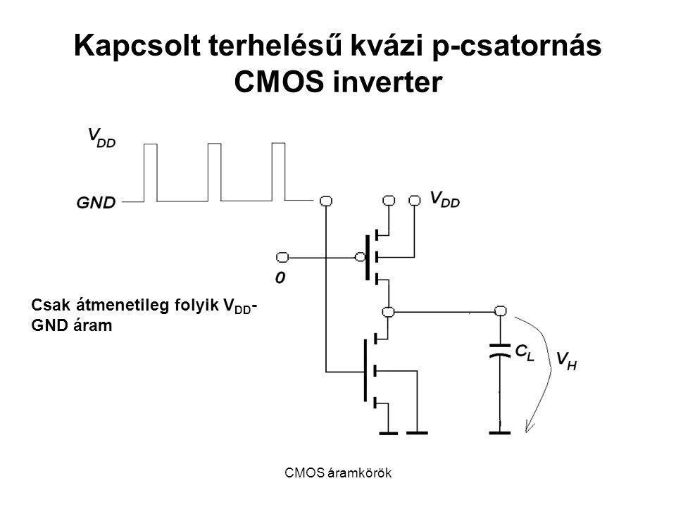 Kapcsolt terhelésű kvázi p-csatornás CMOS inverter