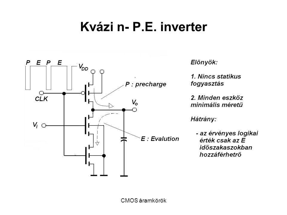 Kvázi n- P.E. inverter CMOS áramkörök