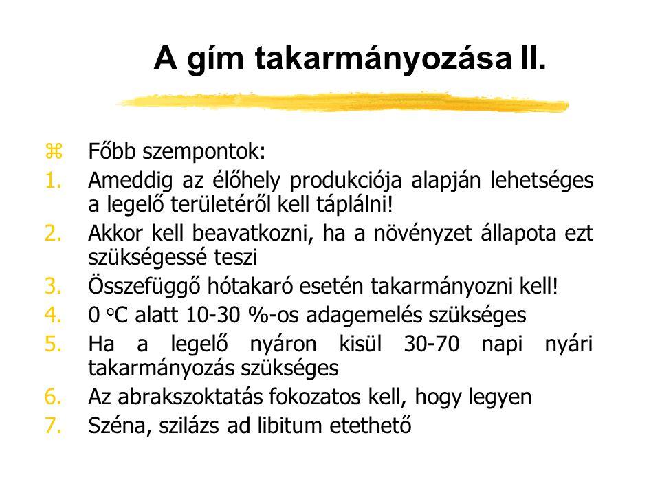 A gím takarmányozása II.