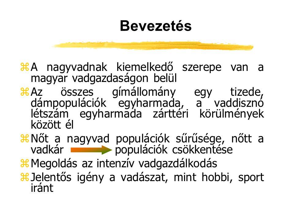 Bevezetés A nagyvadnak kiemelkedő szerepe van a magyar vadgazdaságon belül.