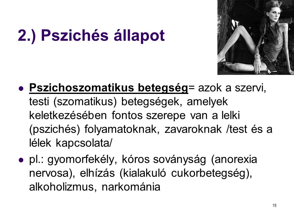 2.) Pszichés állapot